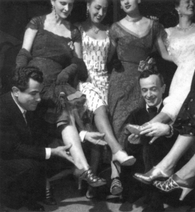 Gran Hotel, Florencia, 1951. Emilio Schuberth (derecha) y Salvatore Ferragamo.