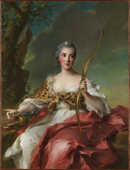 Madame de Maison Rouge como Diana. Por Jean Marc Nattier, 1756. © The Metropolitan Museum of Art. Nueva York.